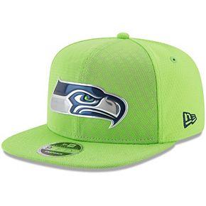 Men's New Era Neon Green Seattle Seahawks 2017 Color Rush 9FIFTY Snapback Adjustable Hat