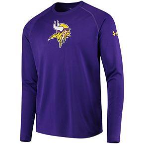 Men's Under Armour Purple Minnesota Vikings Combine Authentic Primary Logo Tech Long Sleeve T-Shirt