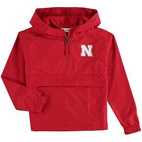 Youth Champion Scarlet Nebraska Cornhuskers Pack & Go Quarter-Zip Windbreaker Jacket