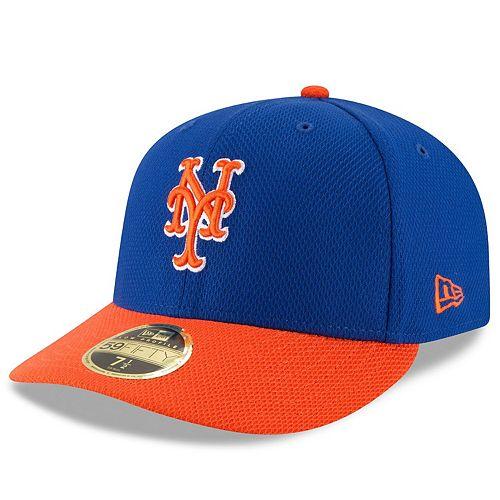 Men's New Era Royal/Orange New York Mets Diamond Era 59FIFTY Low Profile Fitted Hat