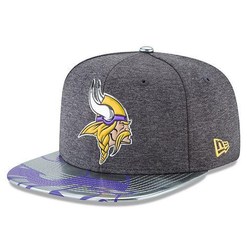 Men's New Era Graphite Minnesota Vikings NFL Spotlight Original Fit 9FIFTY Snapback Adjustable Hat