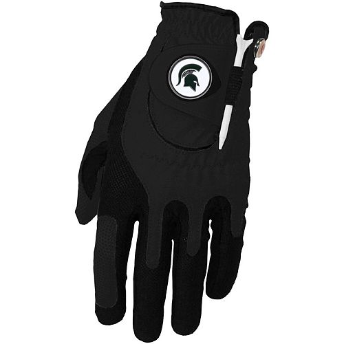 Men's Black Michigan State Spartans Left Hand Golf Glove & Ball Marker Set