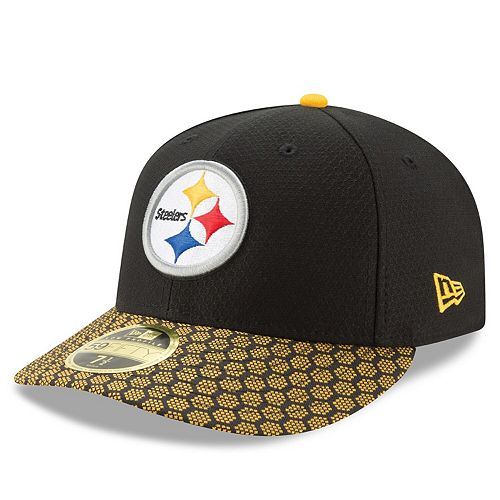 Men's New Era Black Pittsburgh Steelers 2017 Sideline Official Low Profile 59FIFTY Fitted Hat