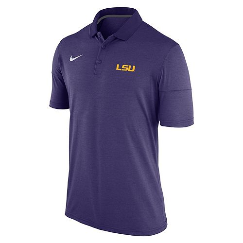 Men's Nike Heathered Purple LSU Tigers Collegiate Dry Polo