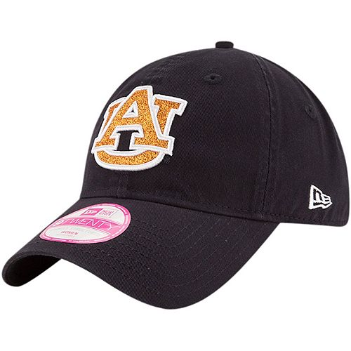 Women's New Era Navy Auburn Tigers Team Glisten 9TWENTY Adjustable Hat