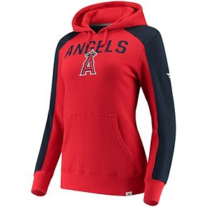 Women's Fanatics Branded Red/Navy Los Angeles Angels Iconic Pullover Hoodie