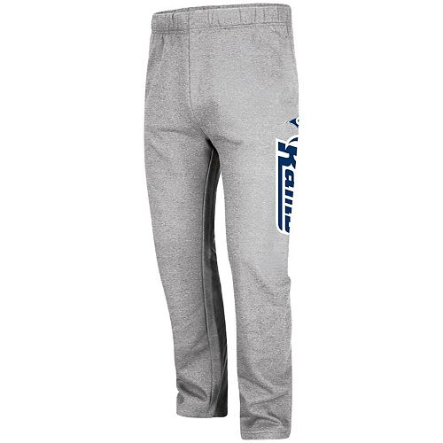 Men's Majestic Heathered Gray Los Angeles Rams Big & Tall Critical Victory Pants