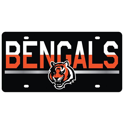 Cincinnati Bengals DuoTone Color Acrylic License Plate