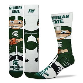Youth For Bare Feet Michigan State Spartans Bobble Head Quarter-Length Socks