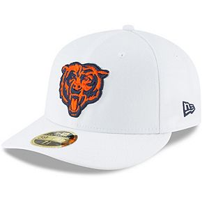 Men's New Era White Chicago Bears Alternate Logo Omaha Low Profile 59FIFTY Fitted Hat