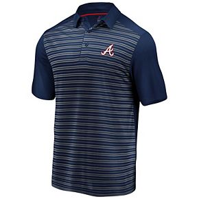 Men's Majestic Navy Atlanta Braves And Then Some Cool Base Polo