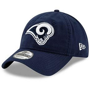 Men's New Era Navy Los Angeles Rams Core Classic Logo 9TWENTY Adjustable Hat