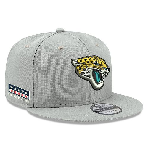 Men's New Era Gray Jacksonville Jaguars Crafted in the USA 9FIFTY Adjustable Hat