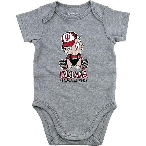 Newborn & Infant Heathered Gray Indiana Hoosiers Fan Essential Bodysuit