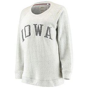 Women's Pressbox Gray Iowa Hawkeyes Helena Comfy Sweatshirt