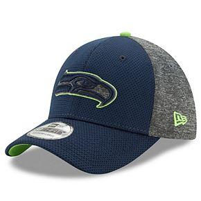 Men's New Era College Navy/Heathered Gray Seattle Seahawks Fierce Fill Team Color 39THIRTY Flex Hat