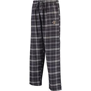 Men's Concepts Sport Charcoal New Orleans Saints Ultimate Plaid Flannel Pajama Pants