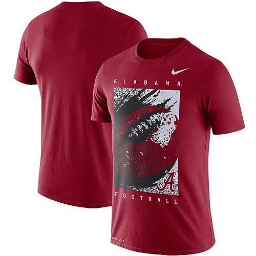 Men's Nike Crimson Alabama Crimson Tide Football Performance T-Shirt