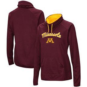 Women's Maroon Minnesota Golden Gophers Funnel Neck Pullover Sweatshirt