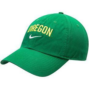 Men's Nike Green Oregon Ducks Heritage 86 Arch Adjustable Performance Hat