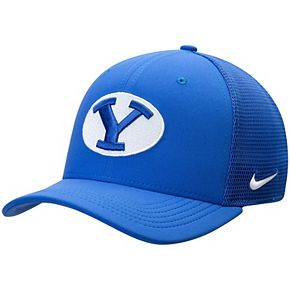 Men's Nike Royal BYU Cougars Aerobill Meshback Swoosh Flex Hat