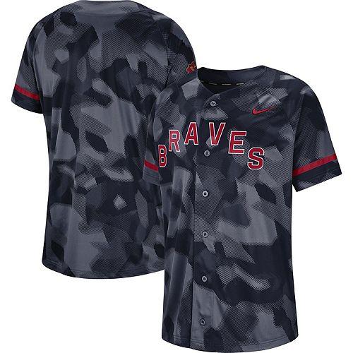 Men's Nike Navy Atlanta Braves Camo Jersey