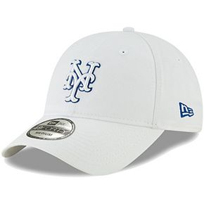 Men's New Era White New York Mets Core Pop 49FORTY Fitted Hat