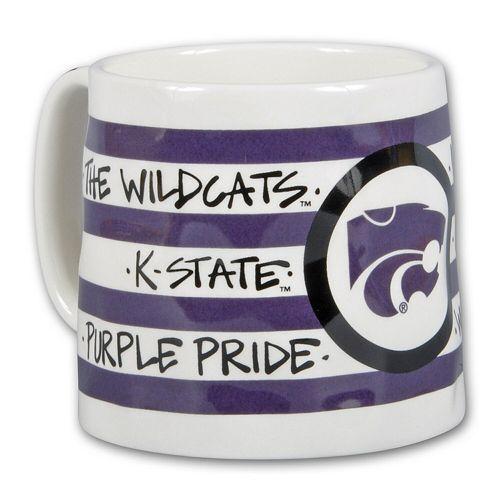 Kansas State Wildcats 16oz. Team Logo Striped Artwork Mug