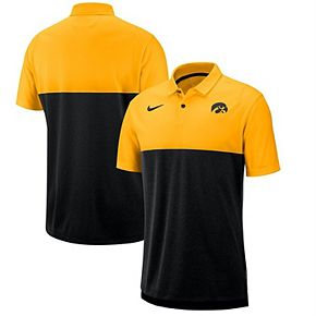 Iowa Hawkeyes Nike 2019 Early Season Coaches Polo  Gold/Black