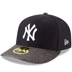 Men's New Era Navy/Heather Gray New York Yankees 2019 Batting Practice Road Low Profile 59FIFTY Fitted Hat