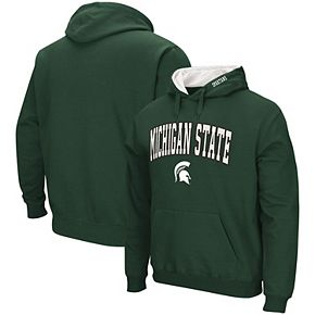 Men's Colosseum Green Michigan State Spartans Arch & Logo Pullover Hoodie