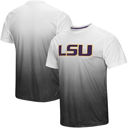Men's Colosseum Gray LSU Tigers Magic Gradient T-Shirt