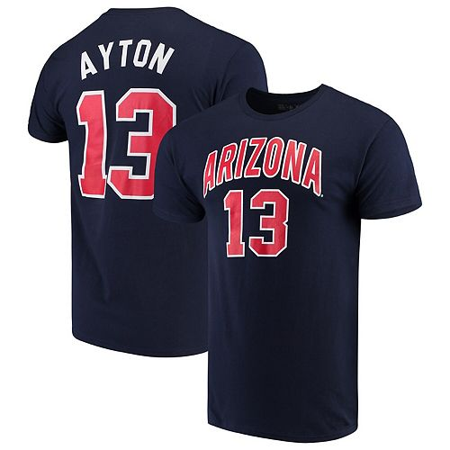Men's Original Retro Brand DeAndre Ayton Navy Arizona Wildcats Alumni Basketball Jersey T-Shirt