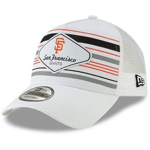 Men's New Era White San Francisco Giants Coastline A-Frame 9FORTY Trucker Hat