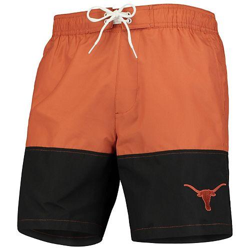 Men's G-III Sports by Carl Banks Texas Orange Texas Longhorns Anchor Volley Swim Shorts