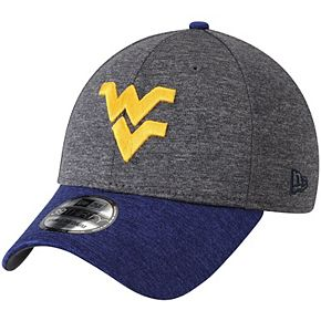 Men's New Era Charcoal/Navy West Virginia Mountaineers Two-Tone Shaded 39THIRTY Flex Hat