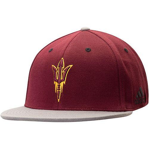 Men's adidas Maroon Arizona State Sun Devils Two-Tone Verbiage Flex Hat