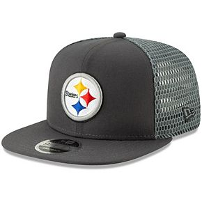 Men's New Era Graphite Pittsburgh Steelers Mesh Fresh 9FIFTY Adjustable Snapback Hat