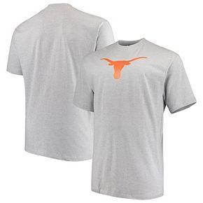 Men's Heathered Gray Texas Longhorns Big & Tall Lockup T-Shirt