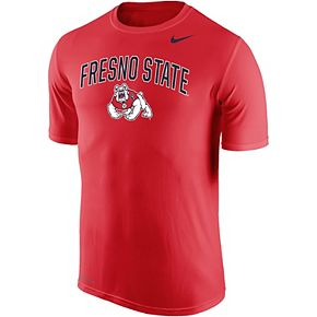 Men's Nike Red Fresno State Bulldogs Arch Over Logo Performance T-Shirt