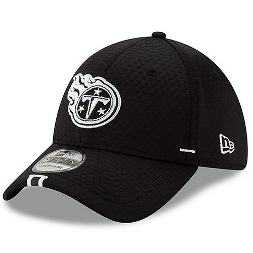 Men's New Era Black Tennessee Titans 2019 NFL Training Camp 39THIRTY Flex Hat