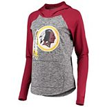 Women's G-III 4Her by Carl Banks Heathered Gray/Burgundy Washington Redskins Championship Ring Pullover Hoodie