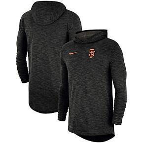 Men's Nike Heathered Black San Francisco Giants Performance Slub Pullover Hoodie