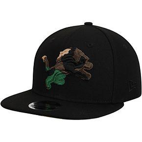 Men's New Era Black Detroit Lions Camo Capped 9FIFTY Adjustable Hat