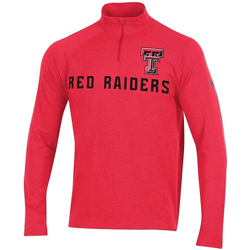Men's Under Armour Heathered Red Texas Tech Red Raiders Tri-Blend Performance Quarter-Zip Jacket