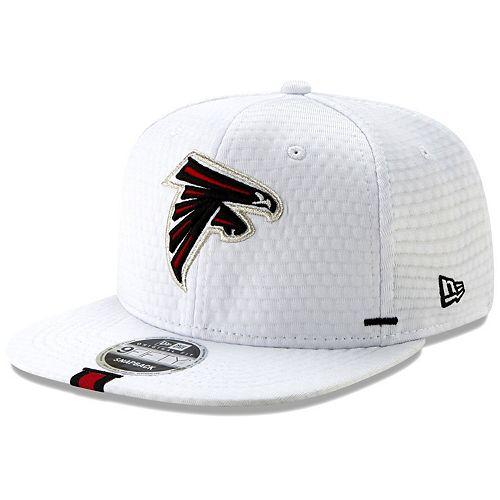 Men's New Era White Atlanta Falcons 2019 NFL Training Camp Original Fit 9FIFTY Adjustable Snapback Hat
