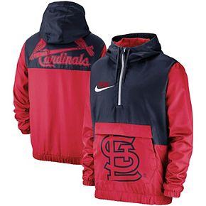 Men's Nike Red St. Louis Cardinals Anorak Half-Zip Pullover Hooded Jacket