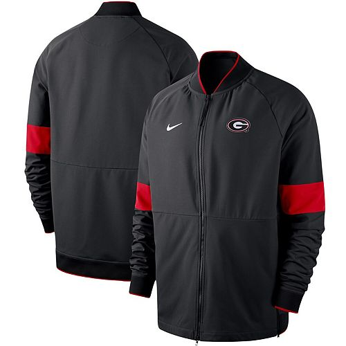 Men's Nike Black Georgia Bulldogs 2019 Sideline Performance Full-Zip Jacket