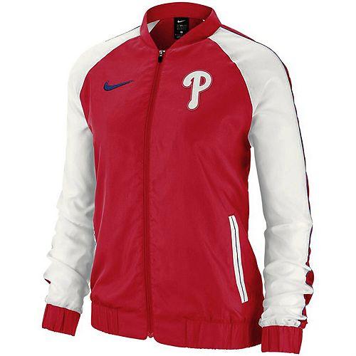 Women's Nike Red Philadelphia Phillies Varsity Full-Zip Jacket