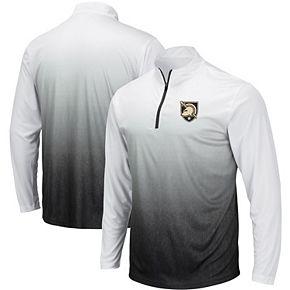 Men's Colosseum Gray Army Black Knights Magic Team Logo Quarter-Zip Jacket